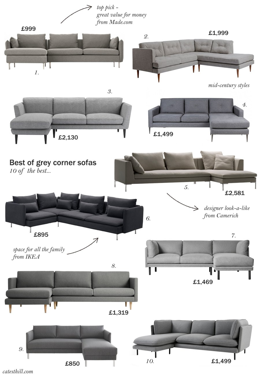 best of scandi grey corner sofas
