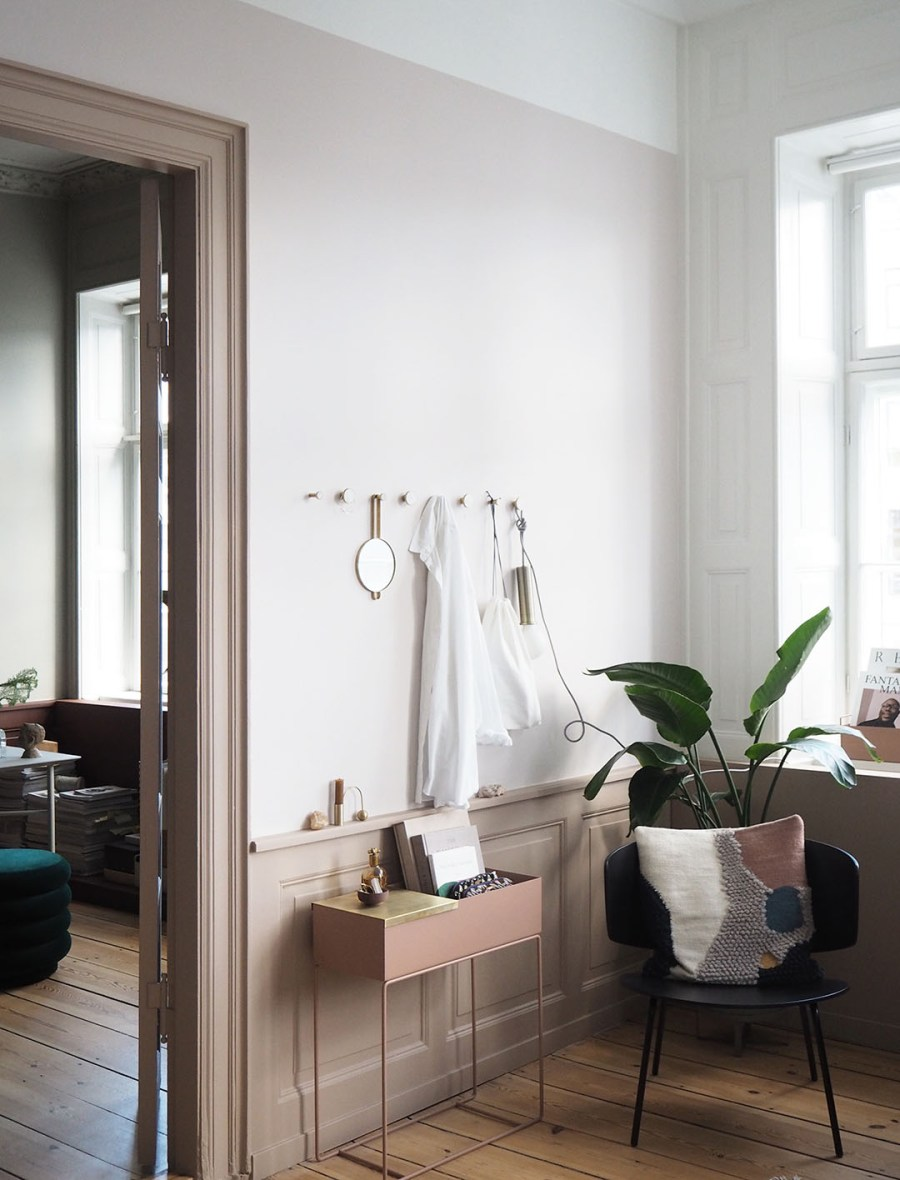 Neutral decor and blush pink touches. Proving Scandi needn't be all white: inside The Home, Copenhagen by Ferm Living. Image: Cate St Hill