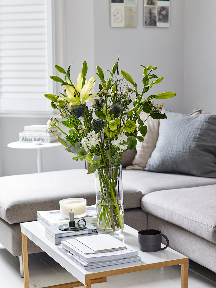 Celebrating the New Year and fresh beginnings with Flowerbe - fresh greenery for January