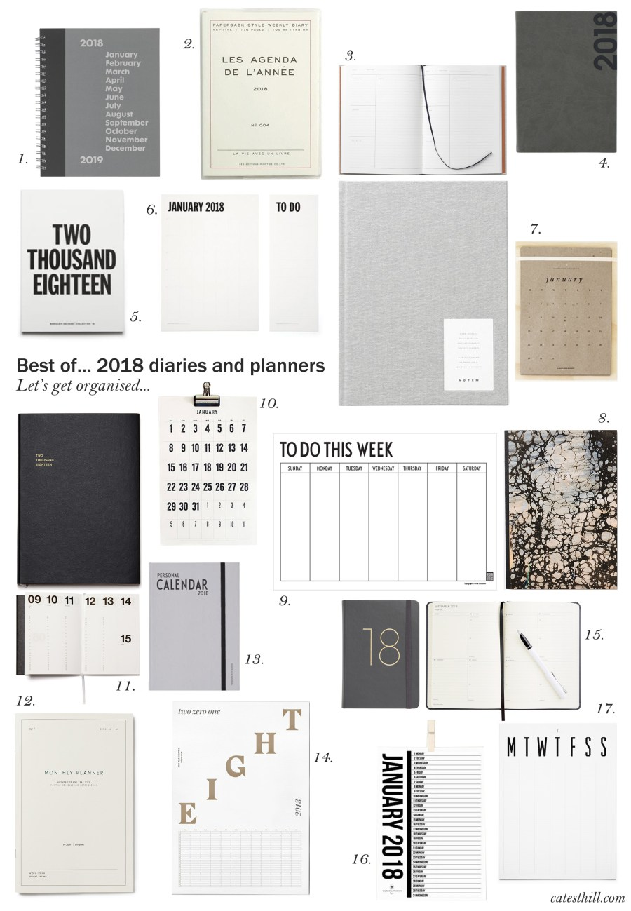 Best of... 2018 diaries and planners