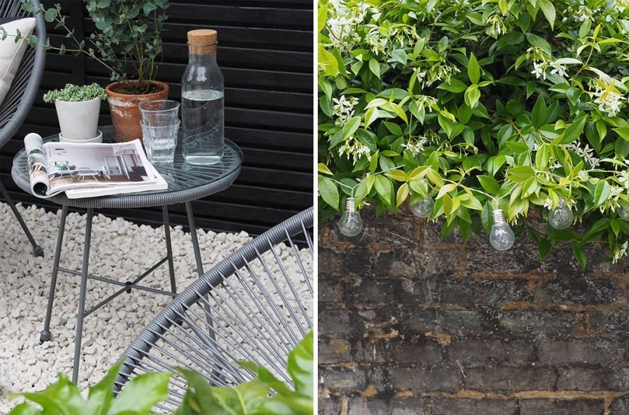 Before & After: My contemporary garden makeover with Wyevale Garden Centres - London garden makeover - black fencing - cream gravel - simple outdoor living