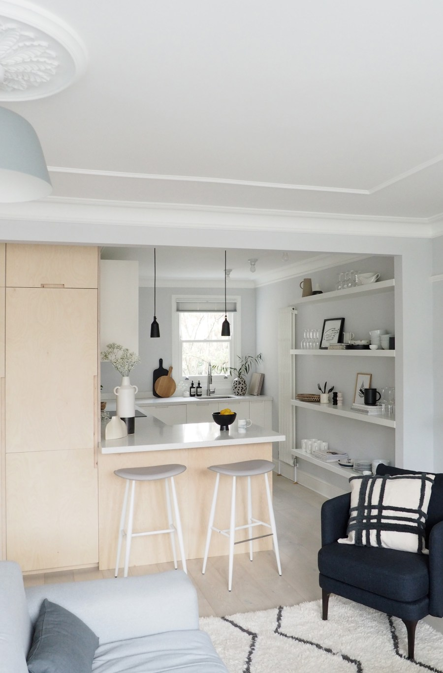 New Interior Project A Light Filled Minimalist Kitchen And Living Room