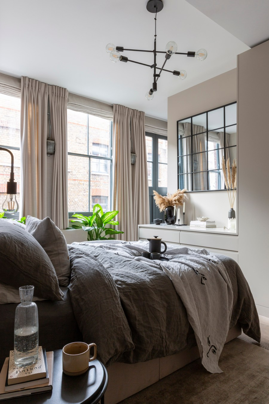 New Interior Project A Cosy Beige Bedroom In A Shoreditch Loft Apartment