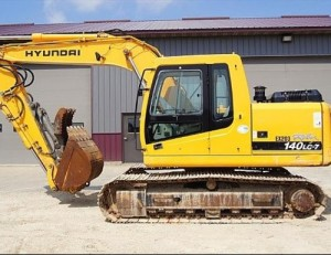 Hyundai R140LC-7 Crawler Excavator Service Repair Workshop Manual 4G