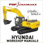 Hyundai Robex R290LC-3 Excavator Workshop Repair manual