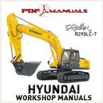 Hyundai Robex R290LC-7 Excavator Service Repair manual