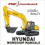 Hyundai R290LC-9 Crawler Excavator Operating Pdf Manual