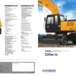 Hyundai Wheel Excavator Robex 200W-7 R200W-7 Service Operating Manual