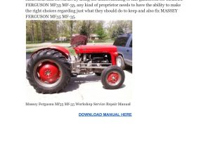 Massey Ferguson Mf35 Mf-35 Workshop Service Repair Manual