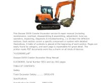 Doosan DX55 Crawler Excavator Workshop Service Repair Manual