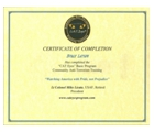 CATEyes certificate of completion
