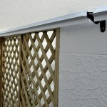 Brackets used on timber lattice and concrete wall