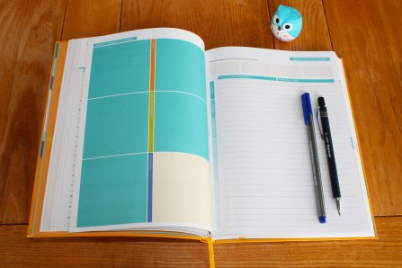 Business Planner - weekly priority and weekly action two page spread