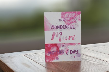 to my wonderful mum on mother's day