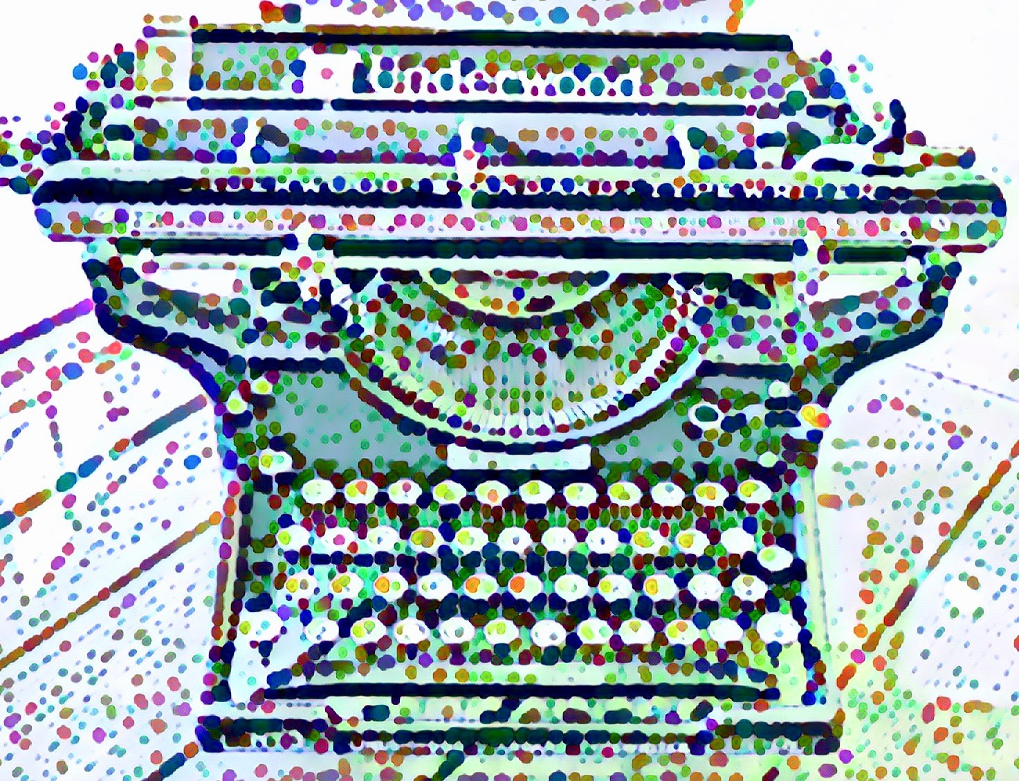 Festive Old Fashion Typewriter