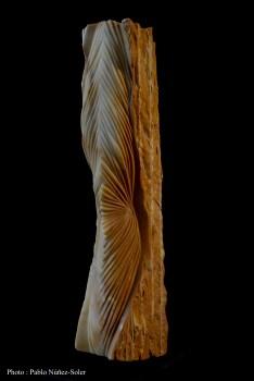 Pierre : Jaune de Sienne - Dimensions : 51 x 11 x 16 cm - Année : 2017