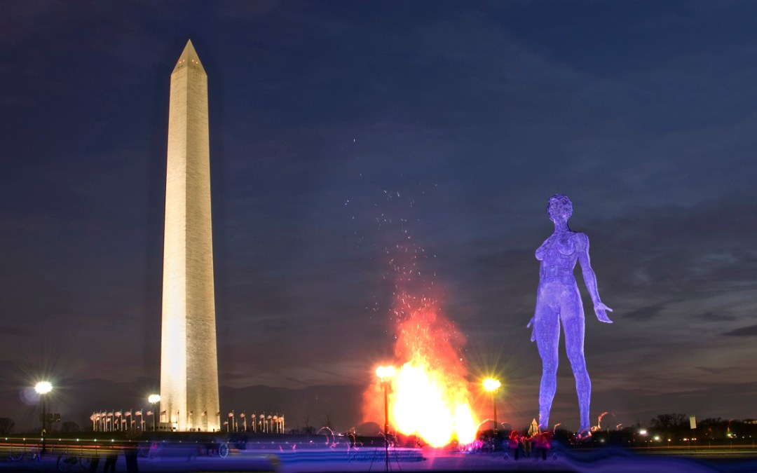 No naked woman on the National Mall, but lots of other wild art