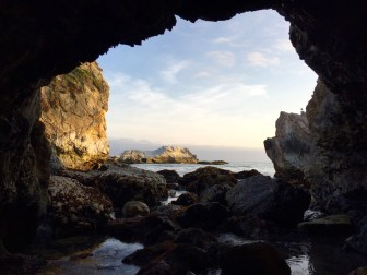 View from the cave. Pismo Beach, CA, May 2016