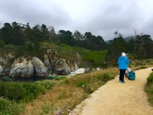 Painting China Cove. Point Lobos State Reserve, CA, May 2016