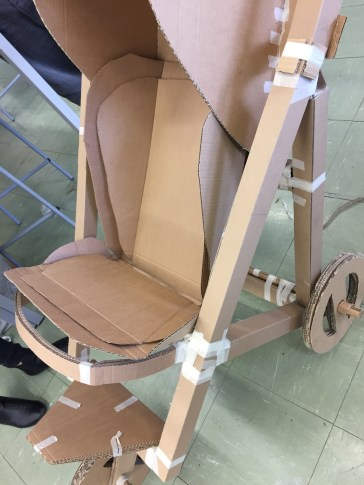 Cardboard Buggy Project from Semester 1