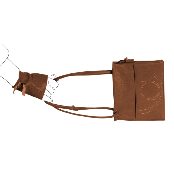 pochette leather Catherine Loiret made in France
