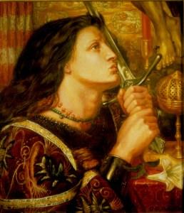 Jeanne d'Arc, par Rossetti