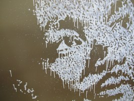 """Close up of I Have A Dream, oul paint on Dibond by Jonas """"Sun7"""" Bournat"""