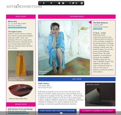 Bath Magazine, What's on
