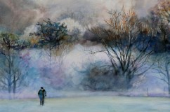 Mist over water - sold watercolour