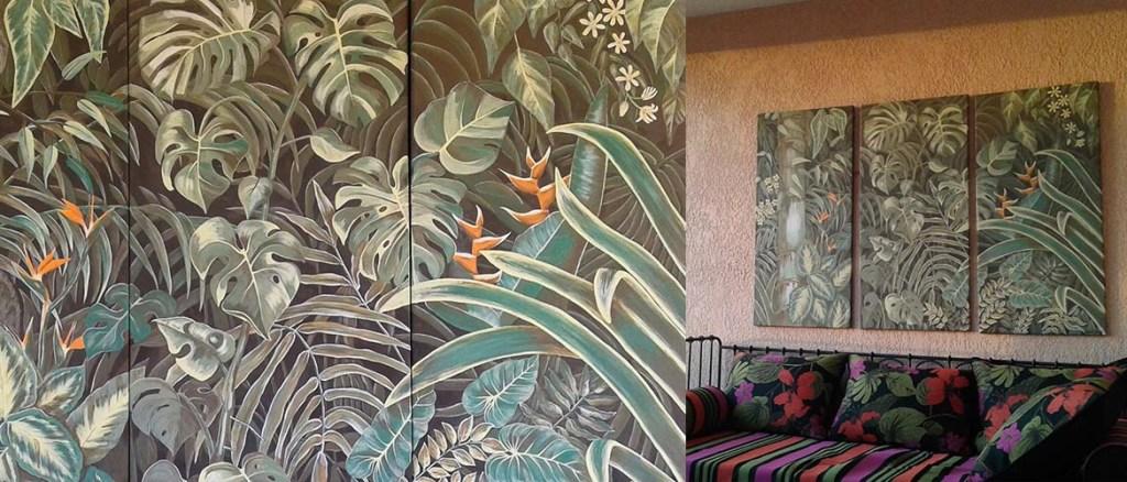 Triptyque jardin tropical Projets Déco