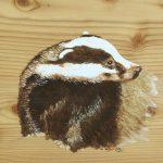 Blaireau Peinture sur bois