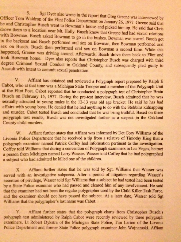 Search Warrant, p. 6 of 8.