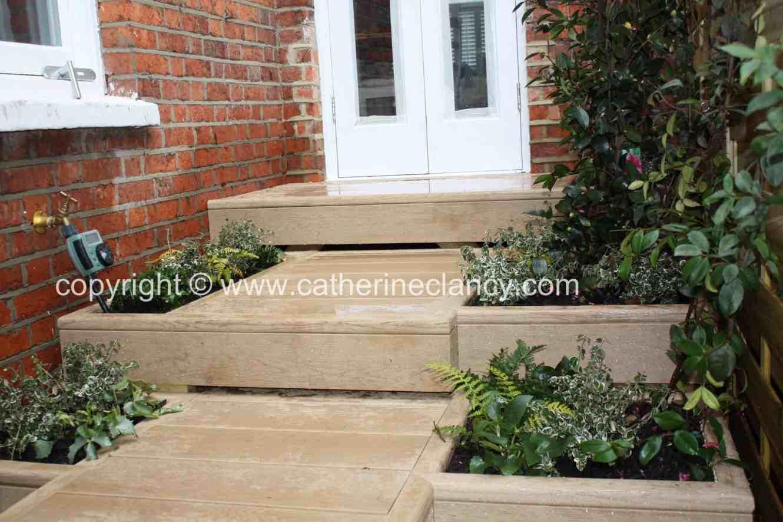 side return floating steps