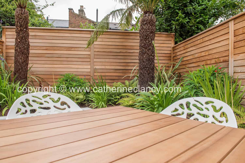 cedar table to match cedar fence