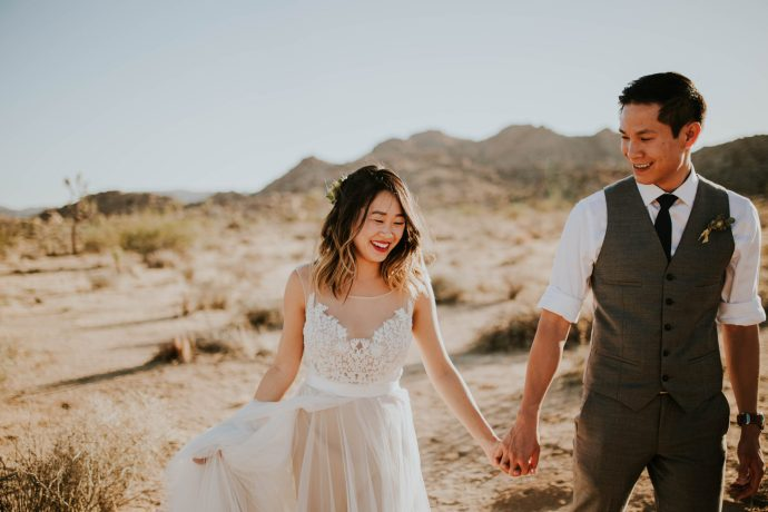 Mandy & Joey Joshua Tree Elopement California Wedding Photographer-109
