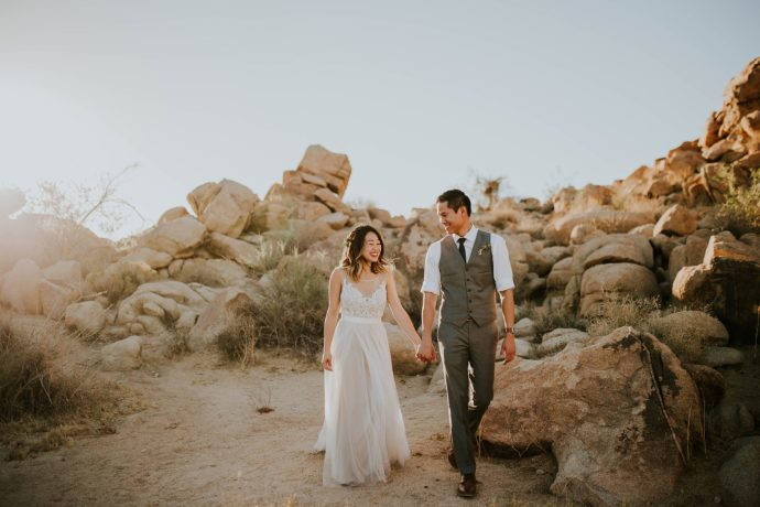 Mandy & Joey Joshua Tree Elopement California Wedding Photographer-131