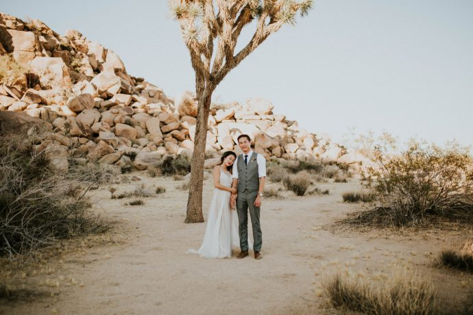Mandy & Joey Joshua Tree Elopement California Wedding Photographer-141
