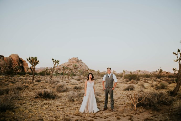 Mandy & Joey Joshua Tree Elopement California Wedding Photographer-291