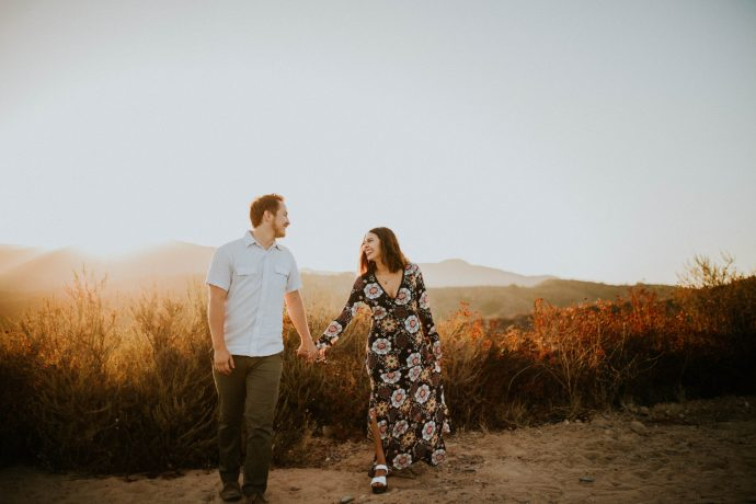 Valerie & Zach Laguna Canyon Couple Session-880