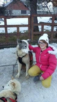 LIvi and husky