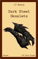 Gloves-Dark Steel Gaunlets