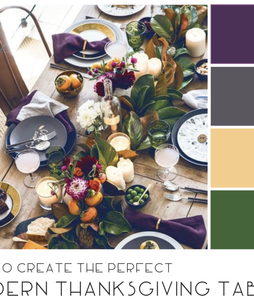 Thanksgiving Place Setting - chapel hill interior design