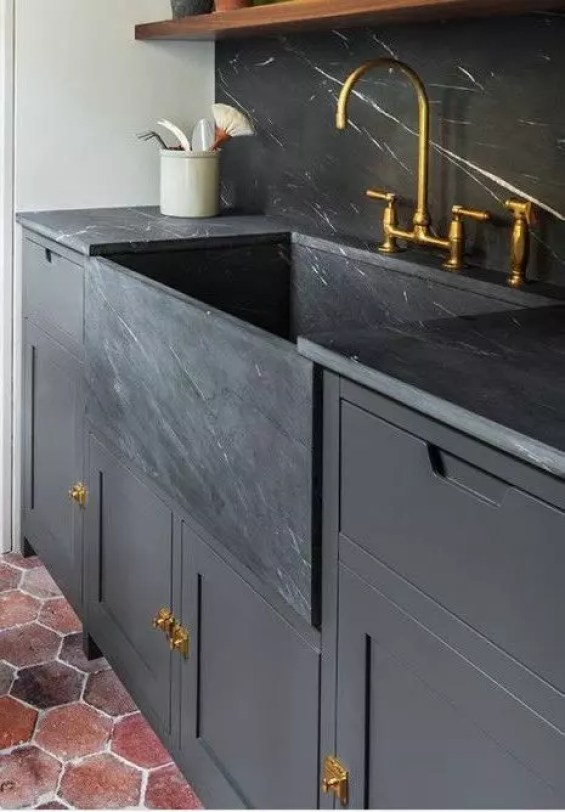 Soapstone Sink and Backsplash Inspiration