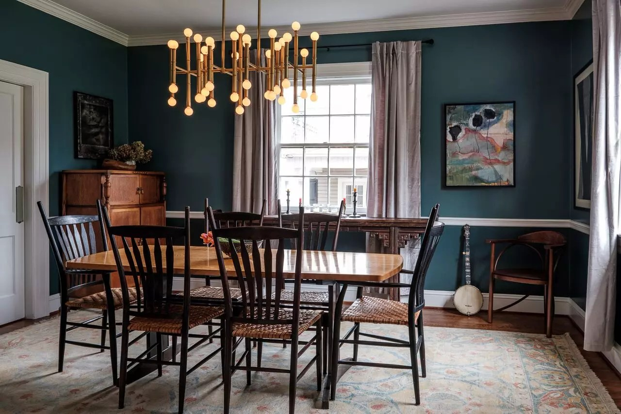 Artist Retreat Asian-Inspired Dinning Room - Catherine French Design