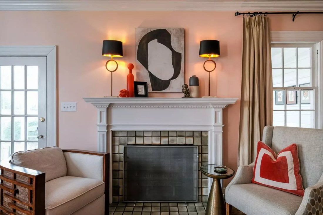 Elevated Eclectic Fireplace