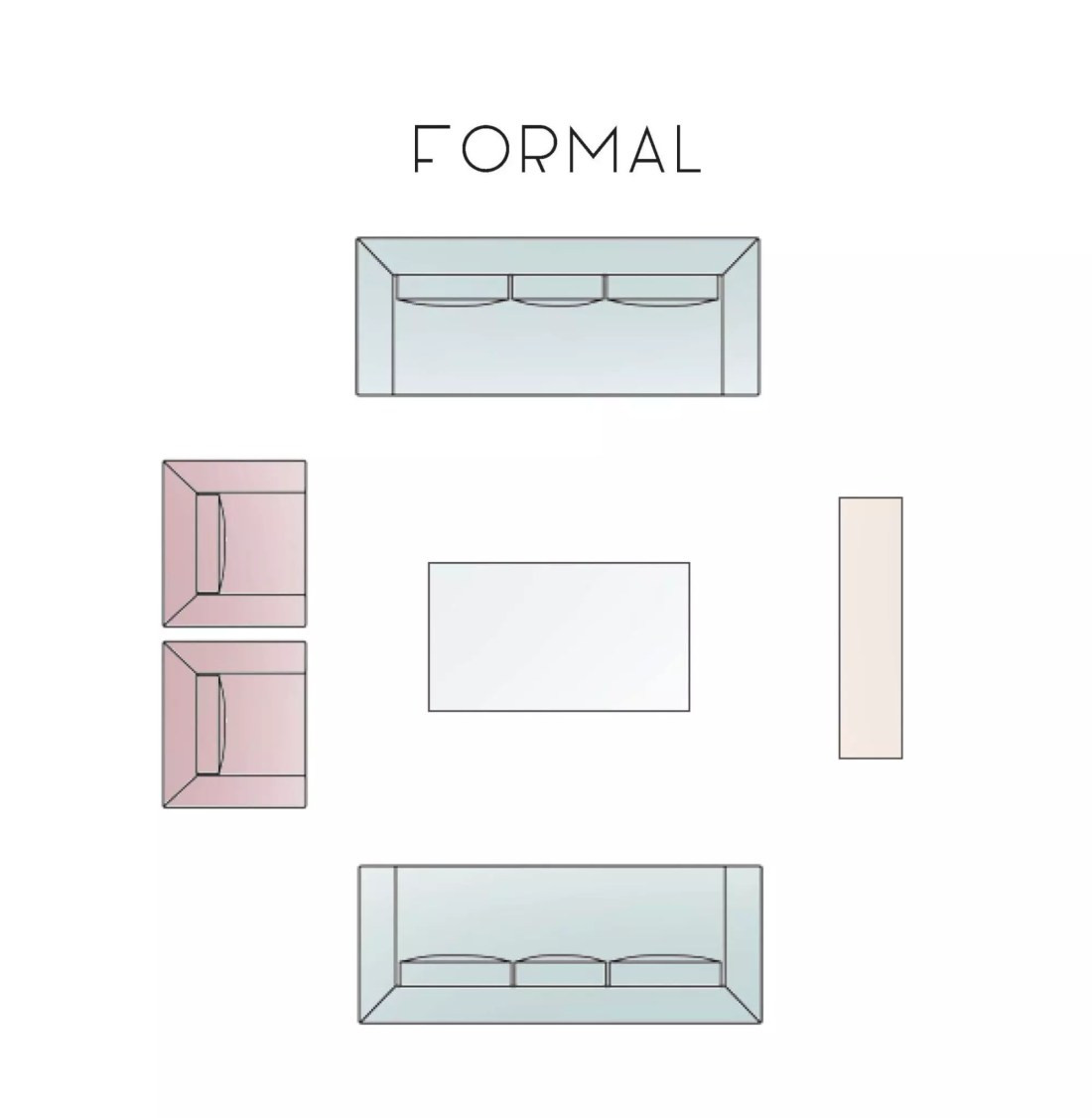 Formal Living Room Layout Option - Catherine French Design