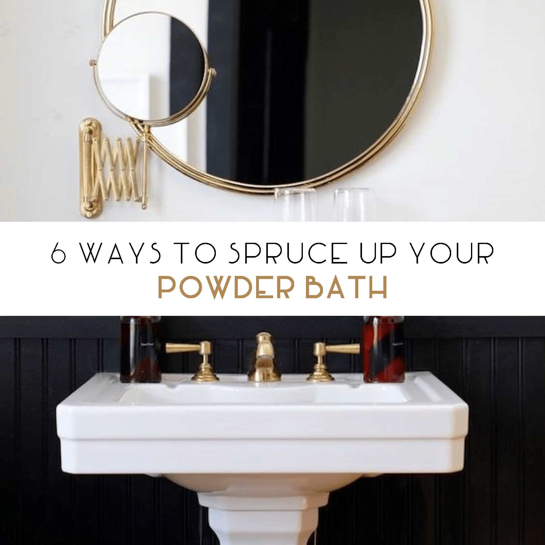 6 Ways to Spruce Up a Powder Bath