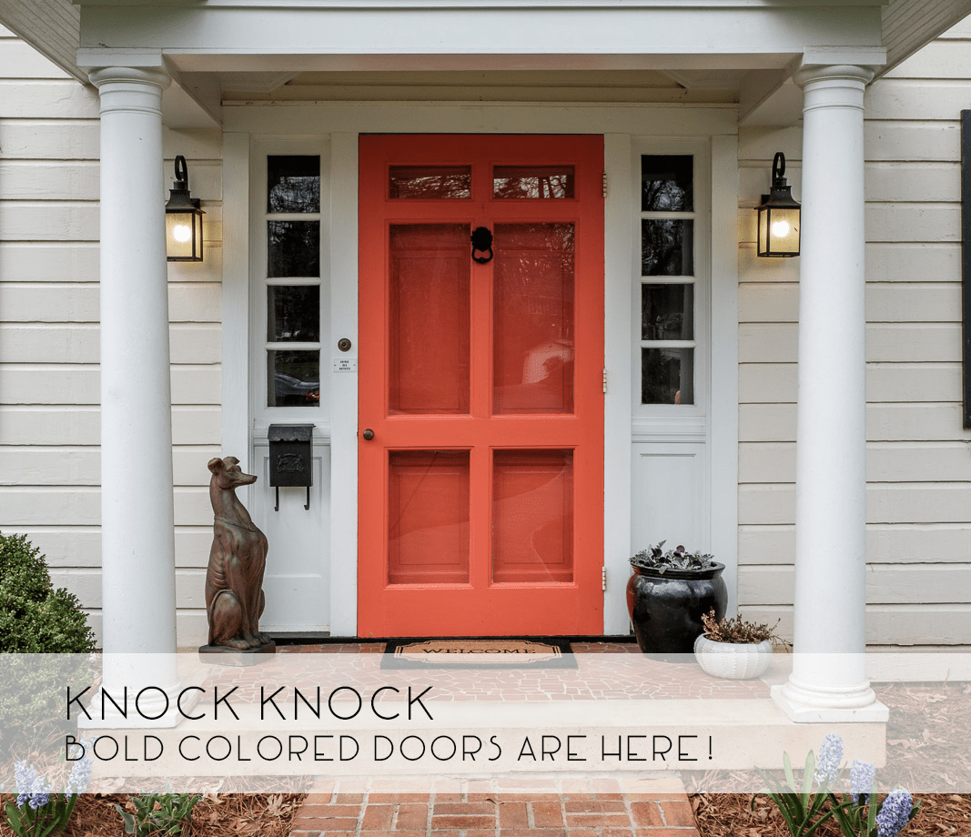 Ideas for Colored Front Door -- Catherine French Design - Chapel Hill & Bold Colored Front Door - Catherine French Design
