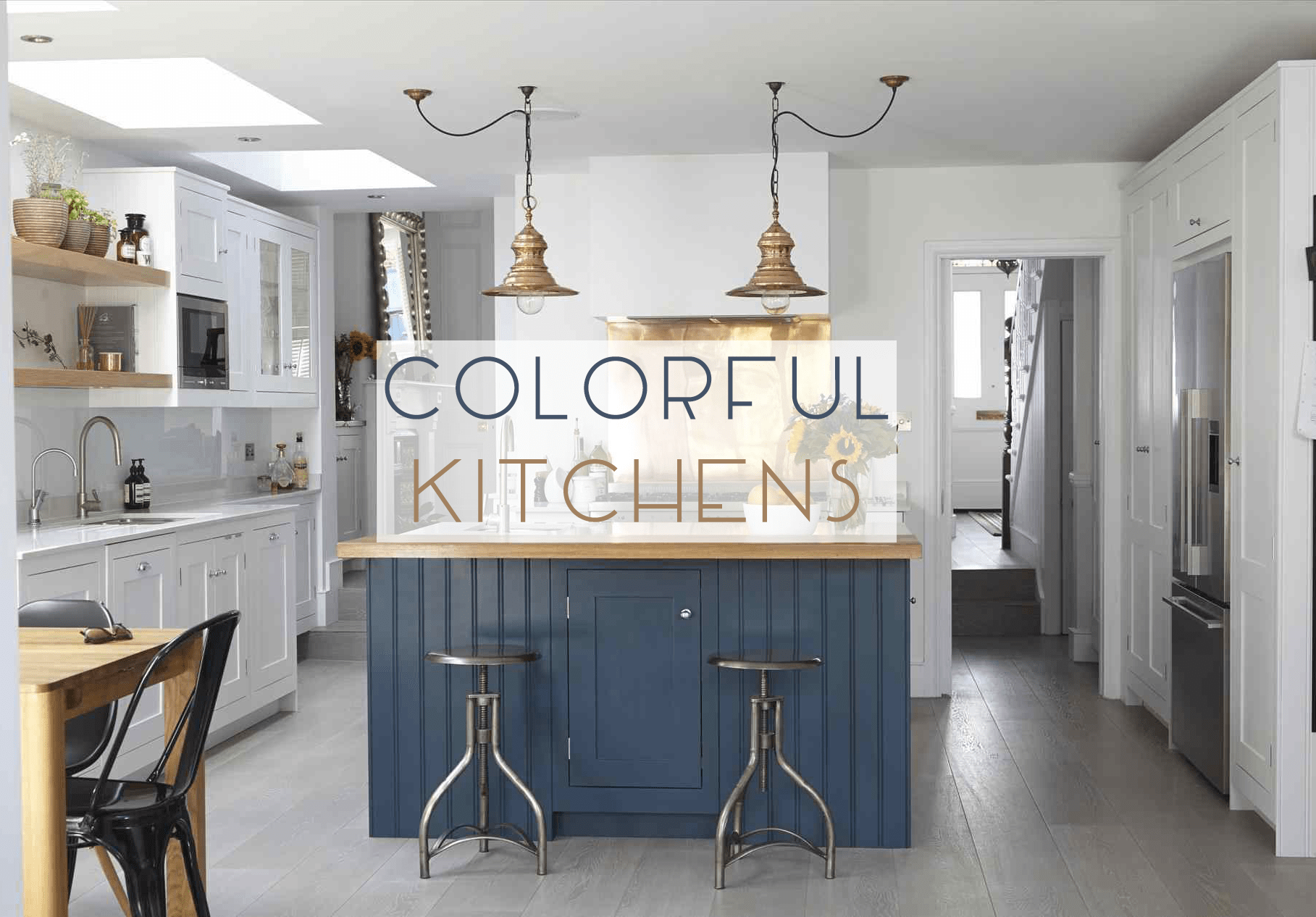 5 Colorful Kitchens We Love [instagram] - Catherine French Design