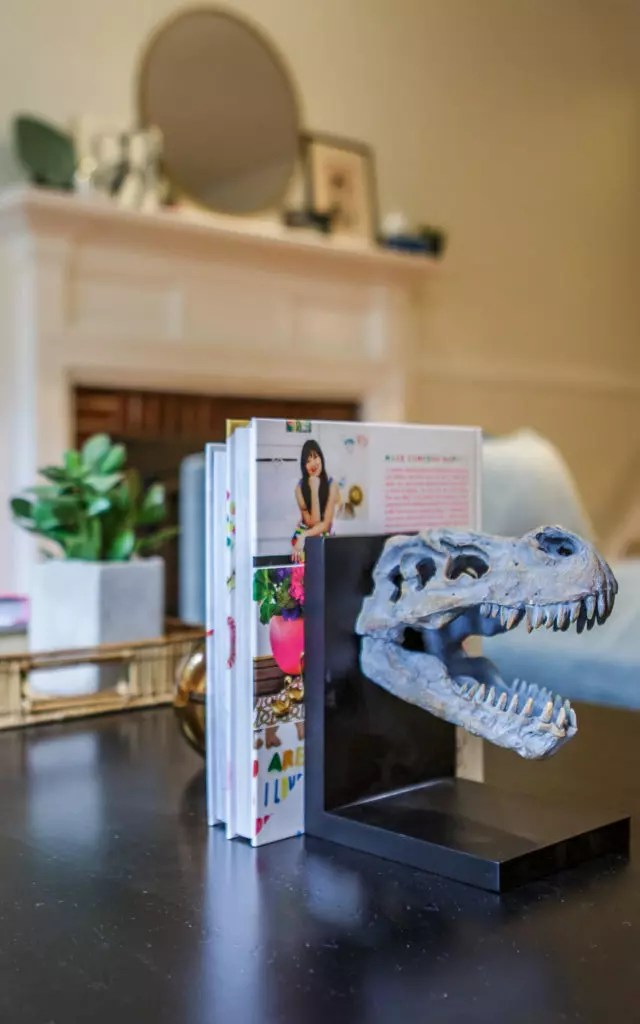 Catherine French Design - Fun Dinosaur Bookend